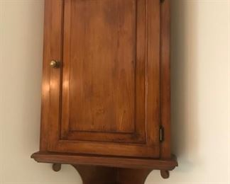 Custom Made pine hanging corner cabinet