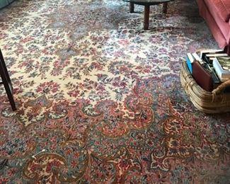 """large Kerman rug, 12'4"""" x 18'"""