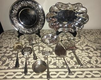 sterling silver.  on right,  sterling Francis 1st bowl