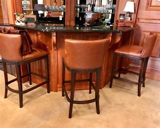 Leather Bar Stools by Frontgate