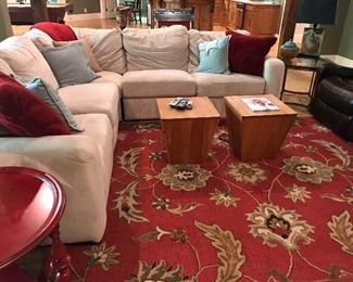 Pottery Barn Microfiber Sectional Sofa with Electric Recliners