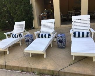 3 Chaise Lounge Chairs by Berlin Gardens