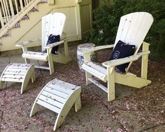 Pair Adirondack Chairs by Berlin Gardens
