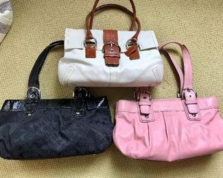 Three Coach Handbags