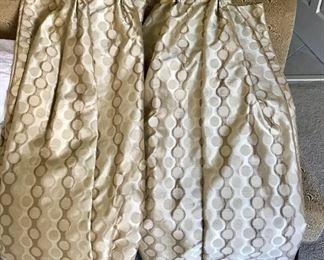 2 Custom Silk Curtain Panels