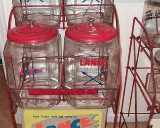 Lance Display Rack w/ Jars ( complete set)