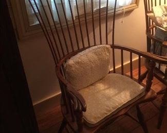 We have a set of four of these Frederick Duckloe and Bros. Austin Family Windsor Chairs.  Portland Pennsylvania.