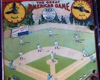 Antique tin baseball game