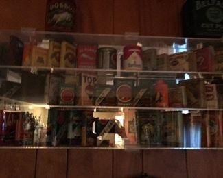 Antique tobacco tins