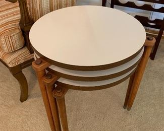 Vintage Mid Century Modern three piece stacking end table set