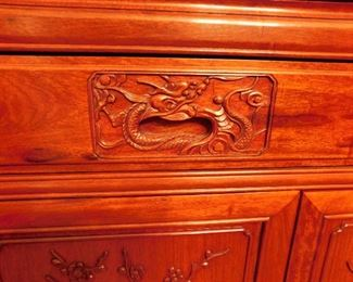 Thai Rosewood Buffet Handles. Gorgeous!