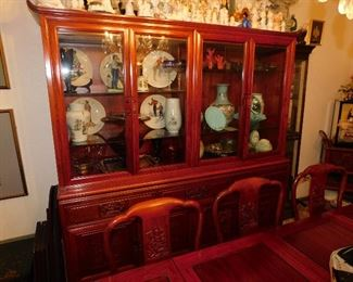 Matching Thai Rosewood Dragon Cabinet.
