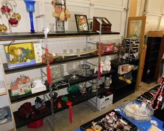 All displays are also for sale, as well as shelving. Pickup on Saturday please....we seriously need the space!