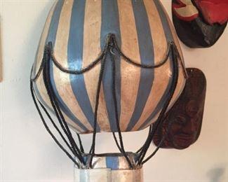 Vintage hot air balloon.