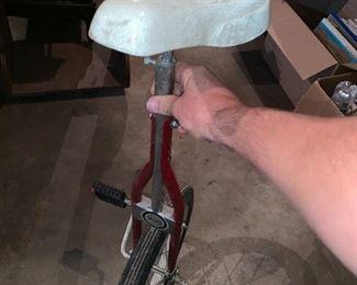 Vintage Sears unicycle