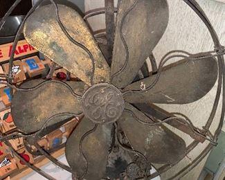 GE six blade brass fan
