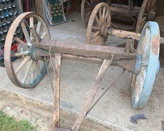 Wooden wheel axles