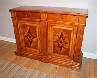 Elegant wood entry console