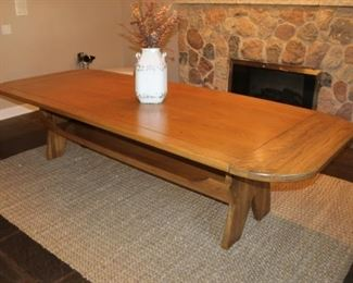 Large size custom oak dining table