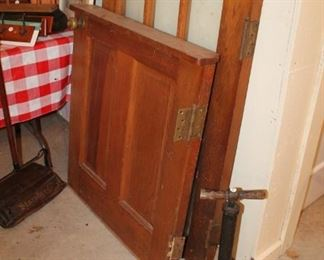 Vintage oak swinging door, 2pc