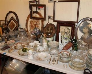 Vintage china and servingware