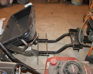 Tractor mounted seed spreader