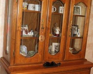 2. furniture Maple china hutch