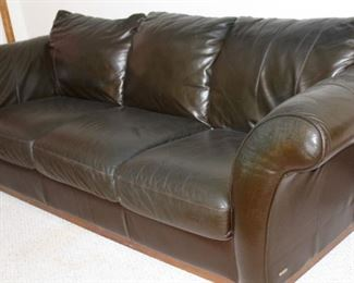 furniture dark brown leather sofa couch