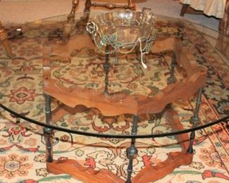 furniture glass topped coffee table