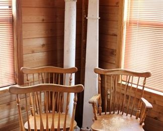 furniture maple chairs and columns