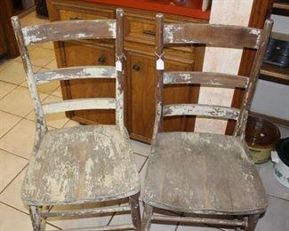 furniture distressed cahirs