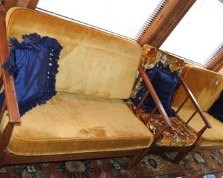 furniture MCM split sofas and chair