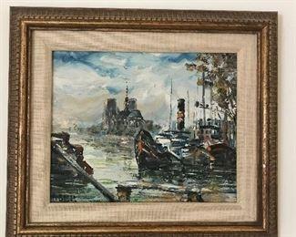 Original Oil on Canvas, Nautical scene.