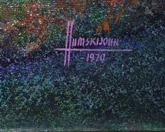 Signature on John Humski painting