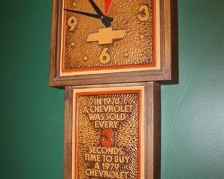 Vintage Chevy clock