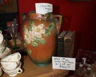 Roseville Magnolia vase - SOLD! and 1852 1st ed. Uncle Tom's Cabin, 2 vol. set