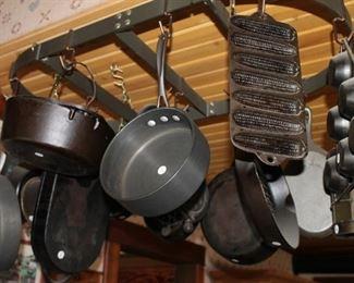Vintage cast iron cookware