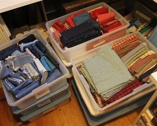 Large assortment of quilting fabric