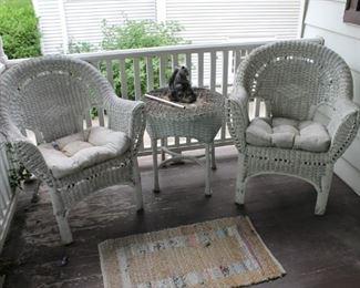 Vintage wicker furniture