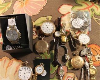 Vintage pocket watches and watches, all of these watches and pocket watches are SOLD!