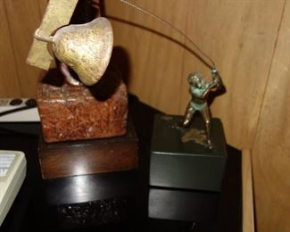 Curtis Jere boy with bell sculpture
