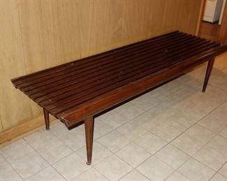Mid-century modern slat bench