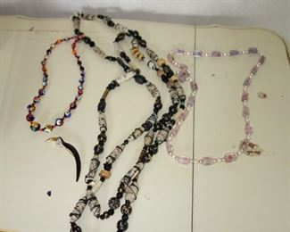 Vintage necklaces including millifiore beads from Italy