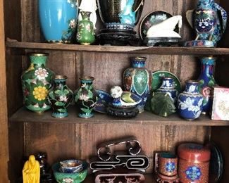 Large Collection of Cloisonné and more