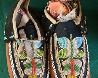 20th Century beaded Native American Moccasins