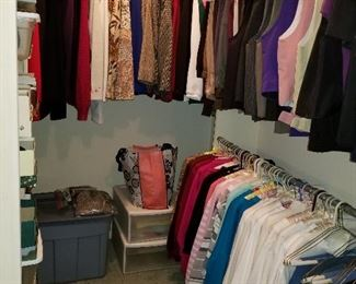 Women's clothing. Mostly small and medium. Many hand-tailored. Jackets, etc.