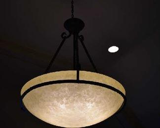 HANGING LIGHT FIXTURE IN FRONT ROOM