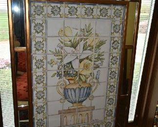 PAINTED TILE WALL ART (1 OF 2)