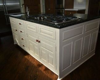 ISLAND CABINETS & GRANITE, SINK & FAUCET