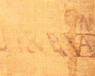 Monogram of artist